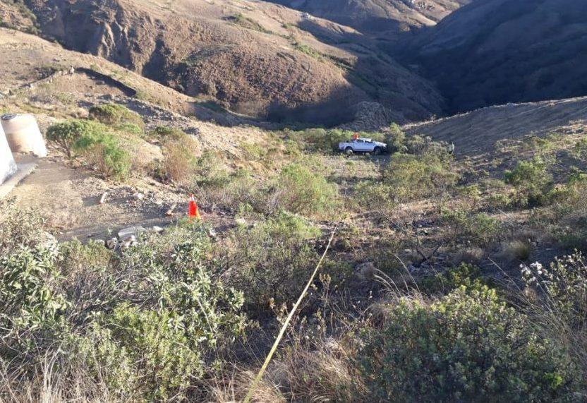 Embarrancamiento de vehículo deja cuatro personas heridas en Tarija