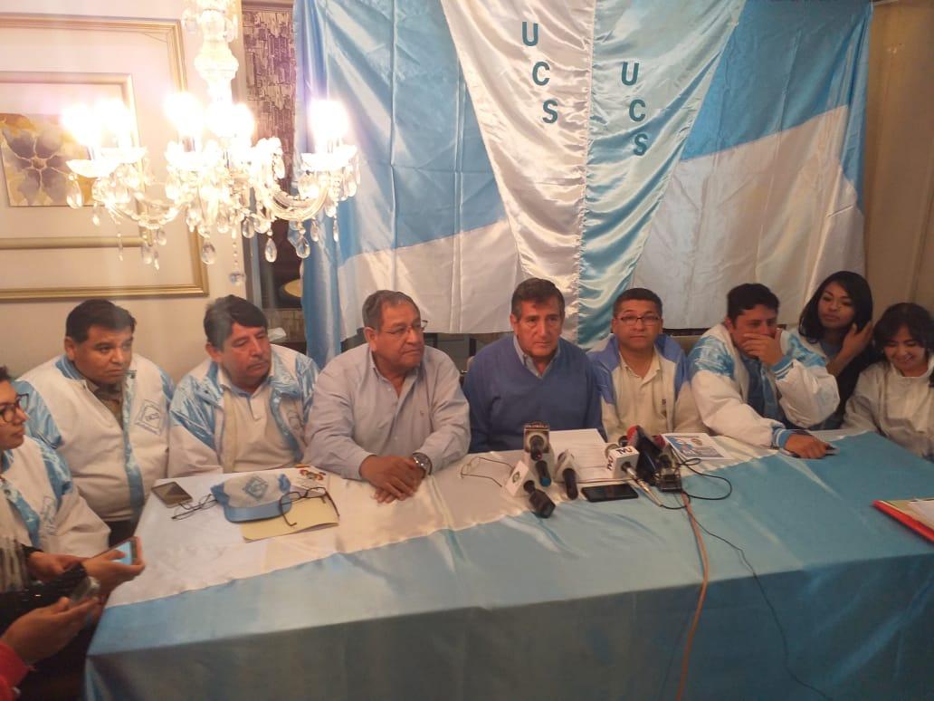 UCS de Tarija presenta a sus candidatos a la Asamblea Legislativa Plurinacional