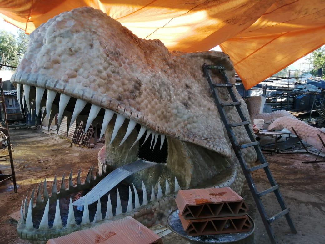 El nuevo dinosaurio del mirador Juan Pablo ll de Tarija será entregado a finales de septiembre