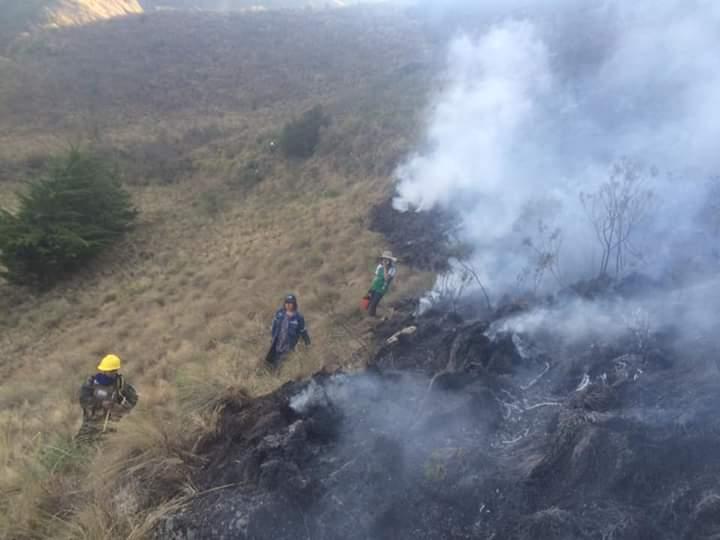 Alcaldía de Tarija señala que el incendio en Calderillas consumió más de 70 hectáreas de pastizales