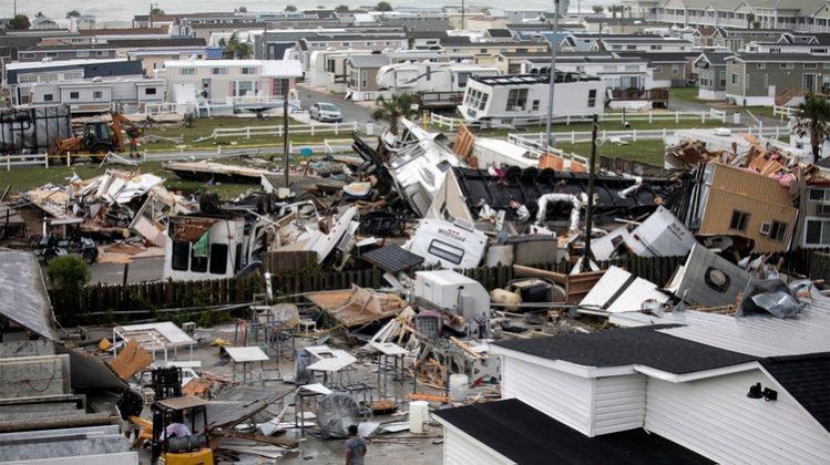 El huracán Dorian causa destrozos en Estados Unidos
