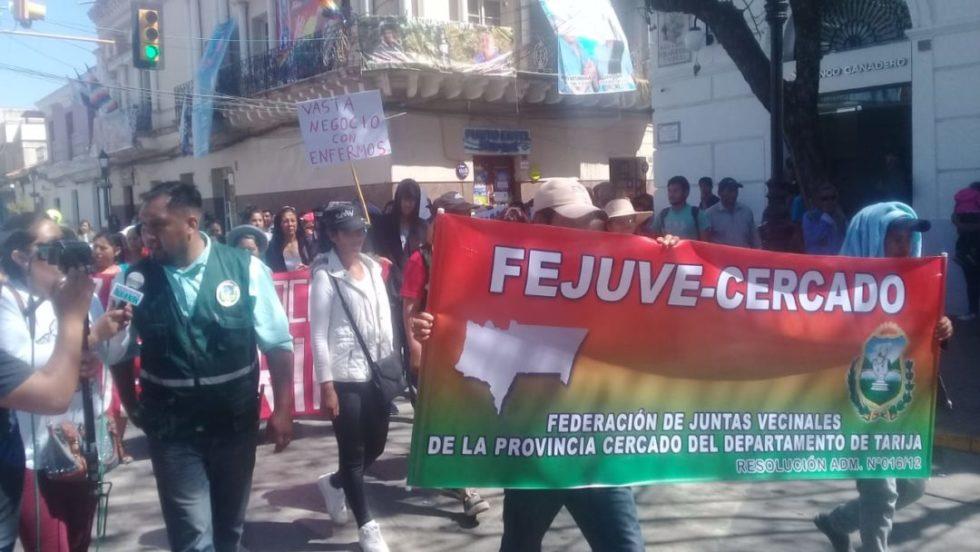 Fejuve Cercado exige a los médicos levantar el paro indefinido en Tarija