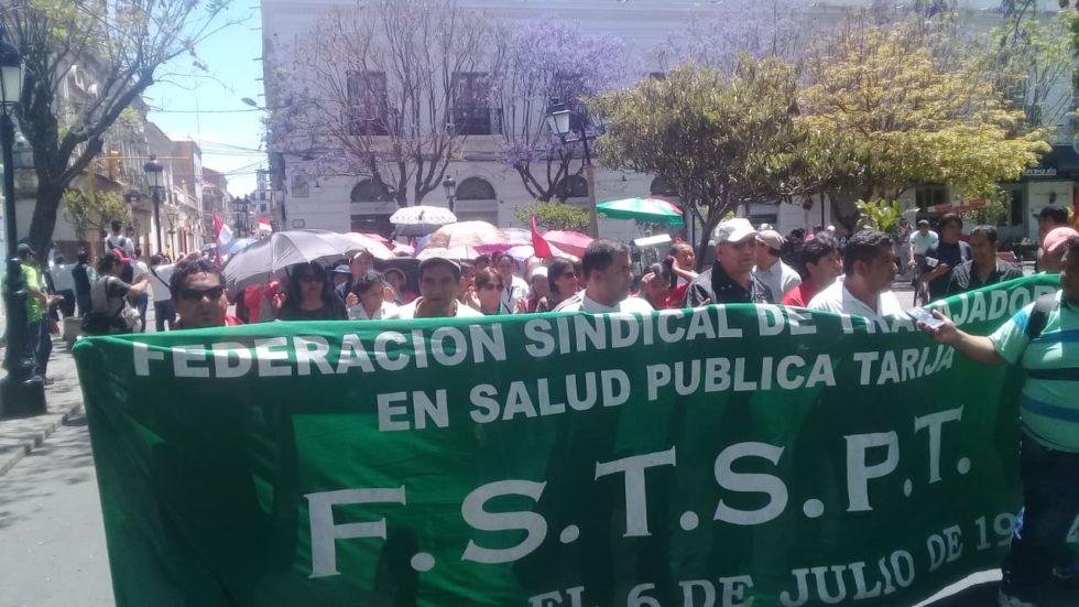 Trabajadores de Salud de Tarija rechazan la Ley de Emergencia Sanitaria y su reglamentación