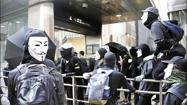 Prohíben en Hong Kong el uso de máscaras durante protestas ciudadanas