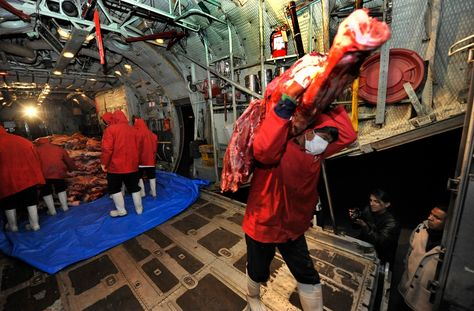 Gobierno garantiza puente aéreo y alcaldía habilita 113 puntos de venta de carne en La Paz