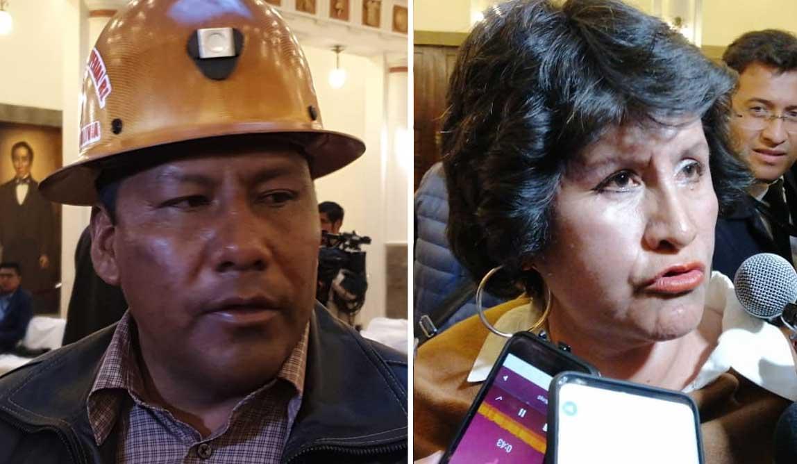 Presidenta Añez posesiona a ministros de Minería y de Educación
