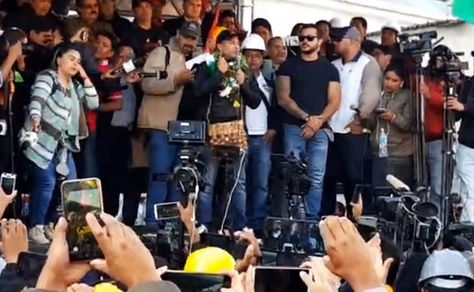 Cívico Camacho confirma que la carta a Evo se entregará el lunes