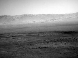 Paisaje que capturó Curiosity, el robot de la NASA