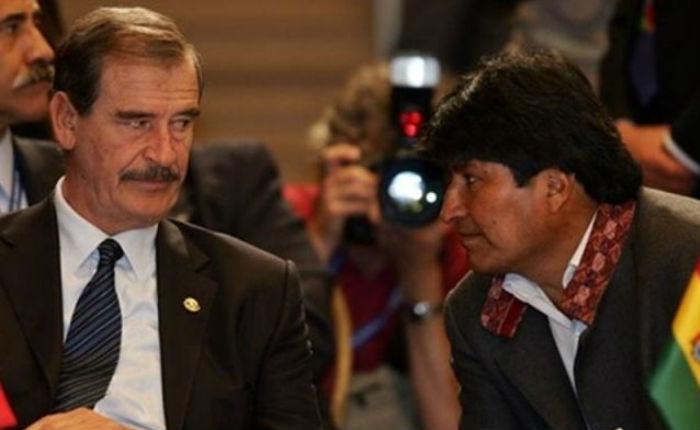 Dictador, reeleccionista y otros calificativos que Vicente Fox lanzó contra Evo Morales