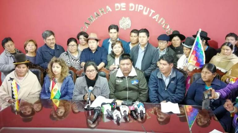 Legisladores del MAS piden a sus bases ya no movilizarse para trabajar en nuevas elecciones