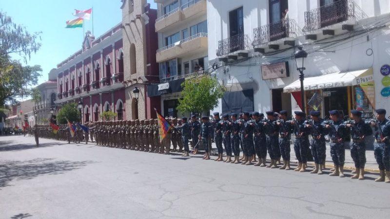 Instituciones de Tarija conmemoran los 174 años de creación del Himno Nacional de Bolivia - La Voz de Tarija