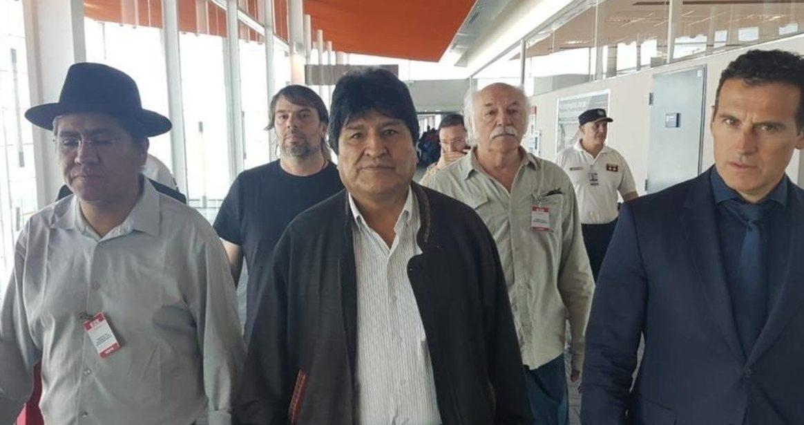 Evo Morales violó su compromiso de no realizar manifestaciones políticas