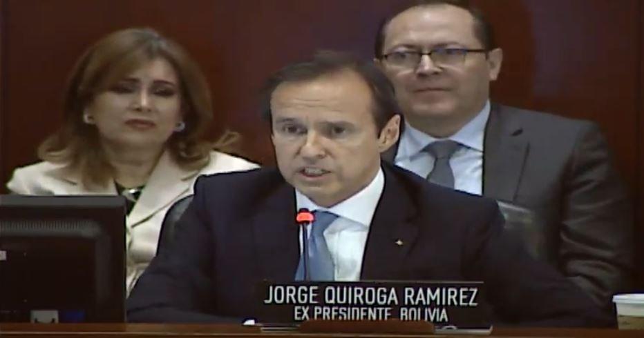 """Quiroga presentó ante la OEA pruebas del """"fraude electoral"""" de Evo Morales en las elecciones de Bolivia"""