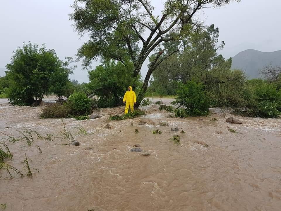 Lluvias provocan un desborde de magnitud en el río de San Andrés en Tarija