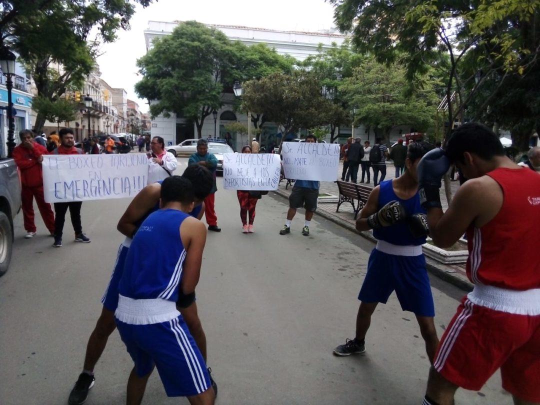 Asociación de Boxeo de Tarija pide al Municipio no cerrar su gimnasio de entrenamiento