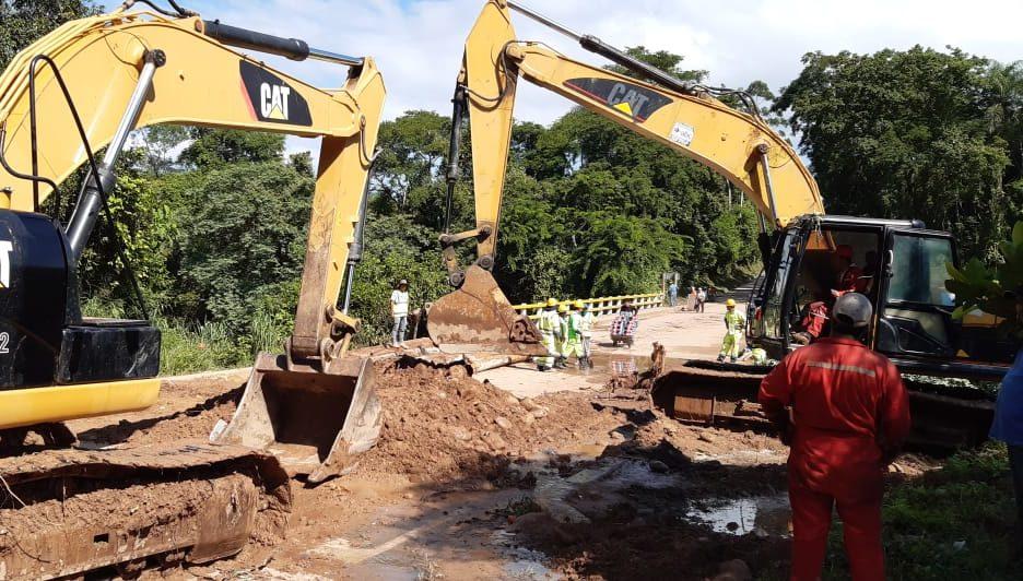 ABC intensifica trabajos para restablecer la circulación en el puente San Telmo de Tarija