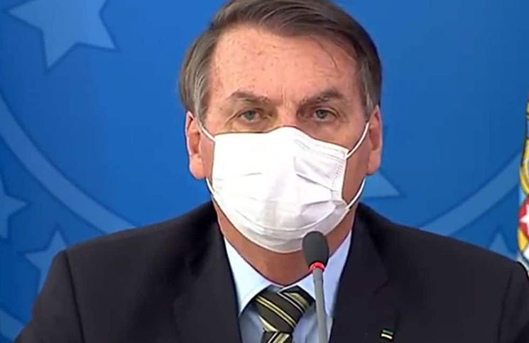 Jair Bolsonaro criticó las restricciones impuestas por el coronavirus en algunos estados de Brasil