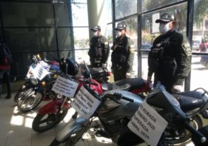 Diprove recupera seis motocicletas denunciadas como robadas en Tarija