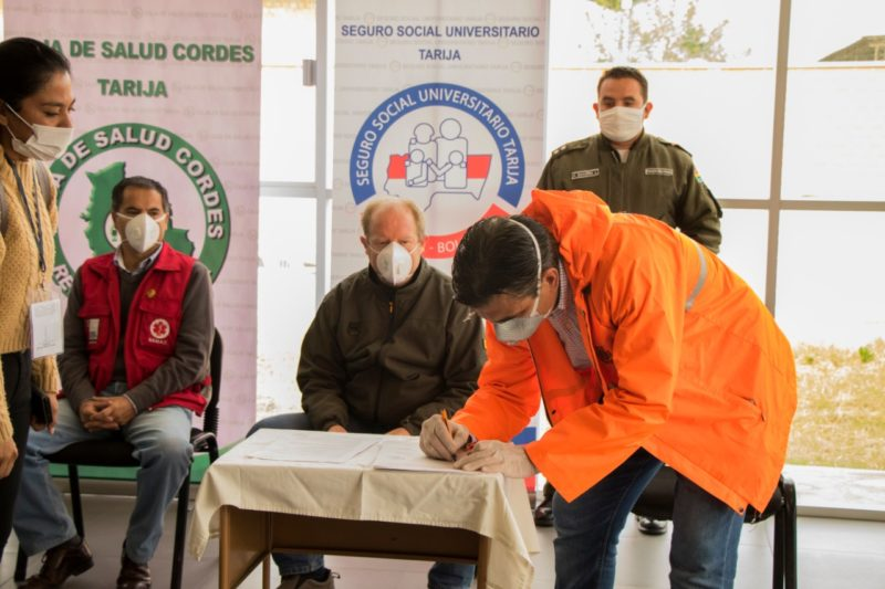 Acuerdo permitirá la habilitación de un centro para pacientes con coronavirus en Tarija
