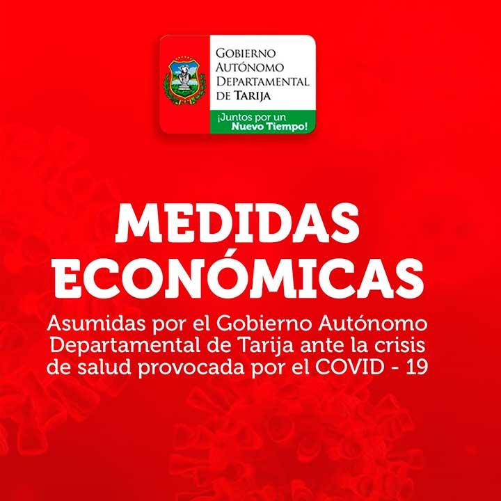 Medidas económicas asumidas por la Gobernación de Tarija ante la crisis por el coronavirus