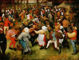 """Baile de casamiento"""" (1568), de Pieter Brueghel el Viejo"""