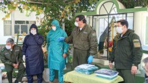Entregan equipos de bioseguridad a la Felcc y el IITCUP de Tarija