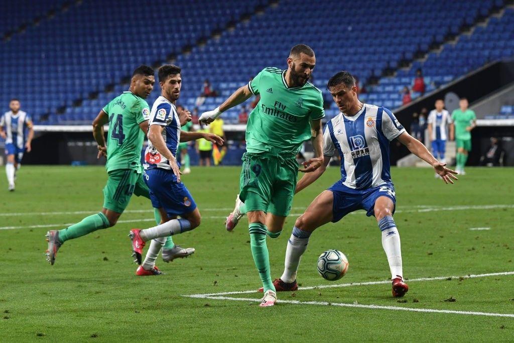 El Real Madrid se consolida como único líder en España, tras vencer al Espanyol por 1 a 0