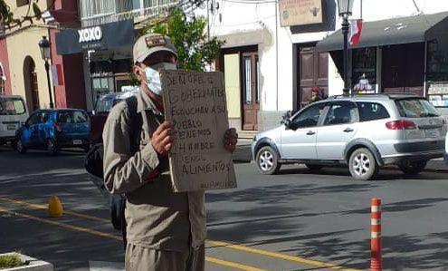 Vecino pide ayuda a Tarija, se encuentra sin trabajo y sin dinero para abastecerse