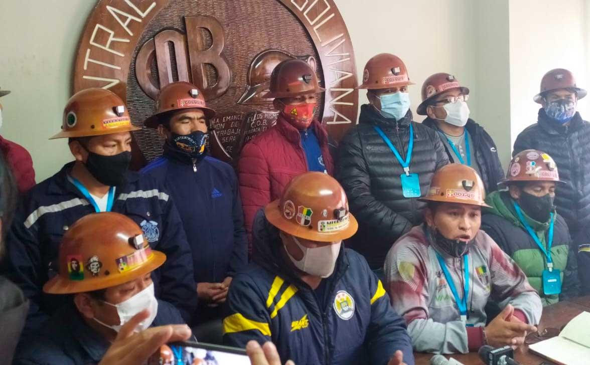 Mineros de Huanuni y Colquiri insisten en que Vinto les pague deudas millonarias