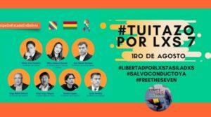 Organizaciones realizan un 'tuitazo' por el salvoconducto de siete asilados en la residencia de México