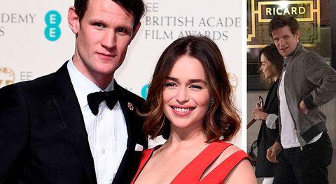 """El nuevo romance estelar en Hollywood: Emilia Clarke de """"Game of Thrones"""" y Matt Smith, de """"The Crown"""""""