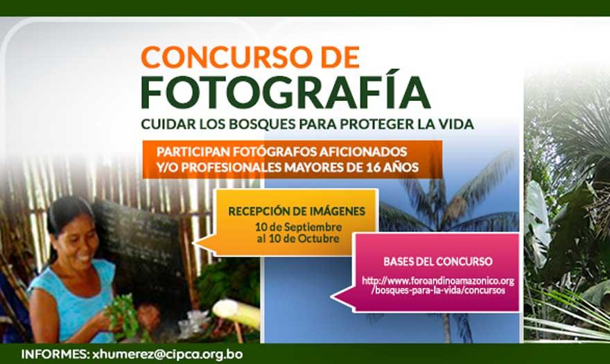 """Lanzan concurso de fotografía """"Cuidar los Bosques Para Proteger la Vida"""""""