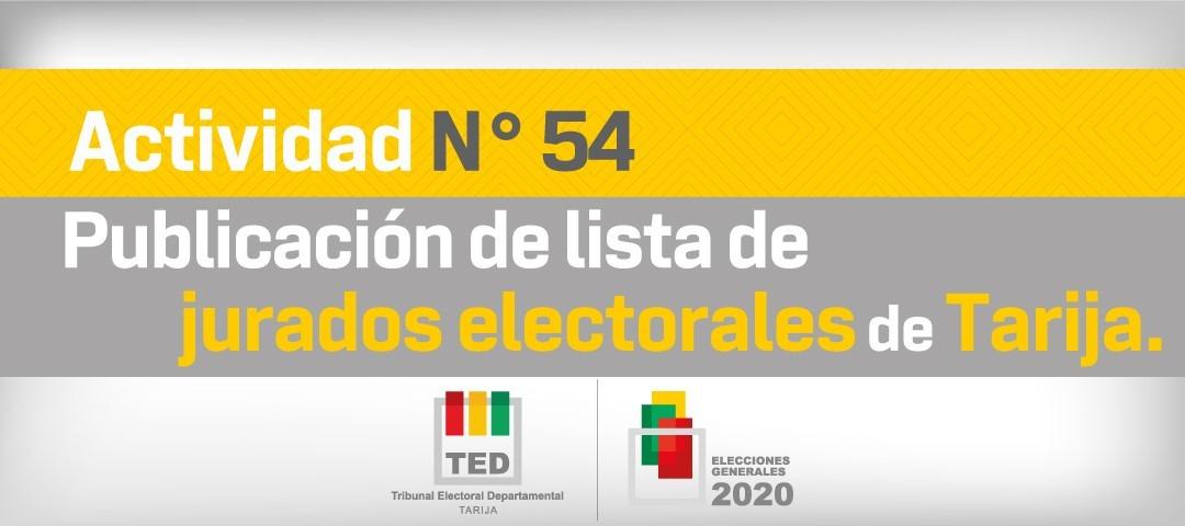 TED de Tarija publica la lista de jurados electorales para las elecciones de octubre
