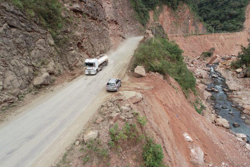 Avanzan la construcción de muros de contención en la variante Canaletas - Entre Ríos