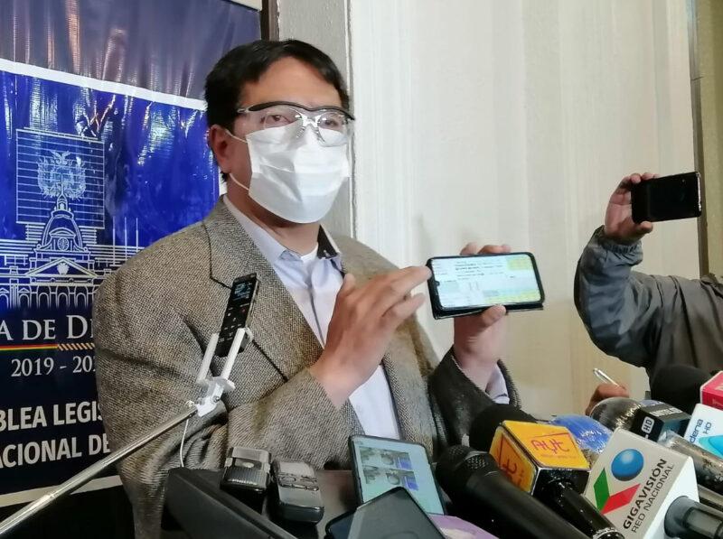 """Opositor le dice a Camacho """"padrino"""" del tercer senador del MAS en Potosí"""