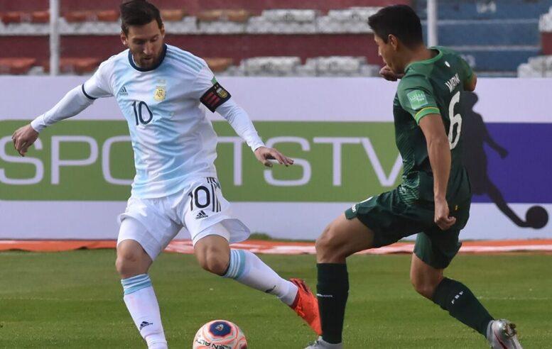 La selección argentina supera a Bolivia en la altura de La Paz