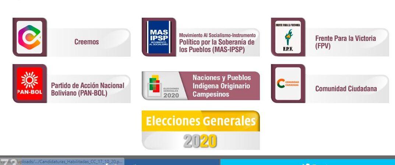 El TSE publica las listas finales de las candidaturas habilitadas para los comicios generales