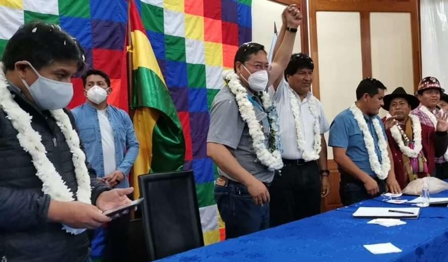 Se inicia ampliado del MAS con el primer encuentro entre Evo Morales y Luis Arce