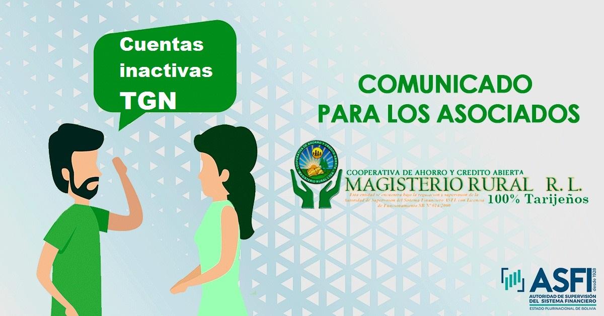 Cooperativa de Ahorro y Crédito Magisterio Rural de Tarija emite un importante comunicado