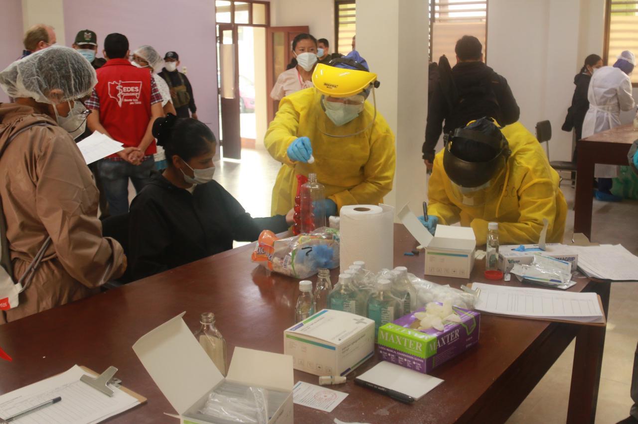 Sedes inicia los testeos masivos en beneficio de la Policía de Tarija
