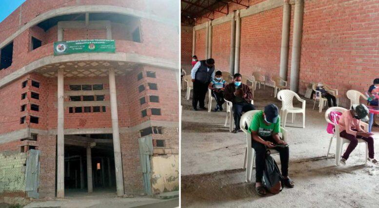 Sindicato de transporte habilita punto de internet gratuito para estudiantes y les regalan barbijos