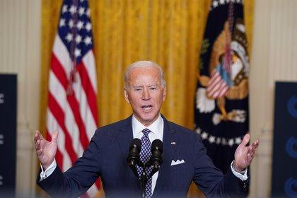 En su primer discurso ante los líderes del G7, Joe Biden criticó duramente a Rusia, Irán y China