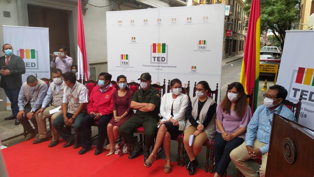 El TED Tarija describe en un simulacro los pasos del cómputo electoral