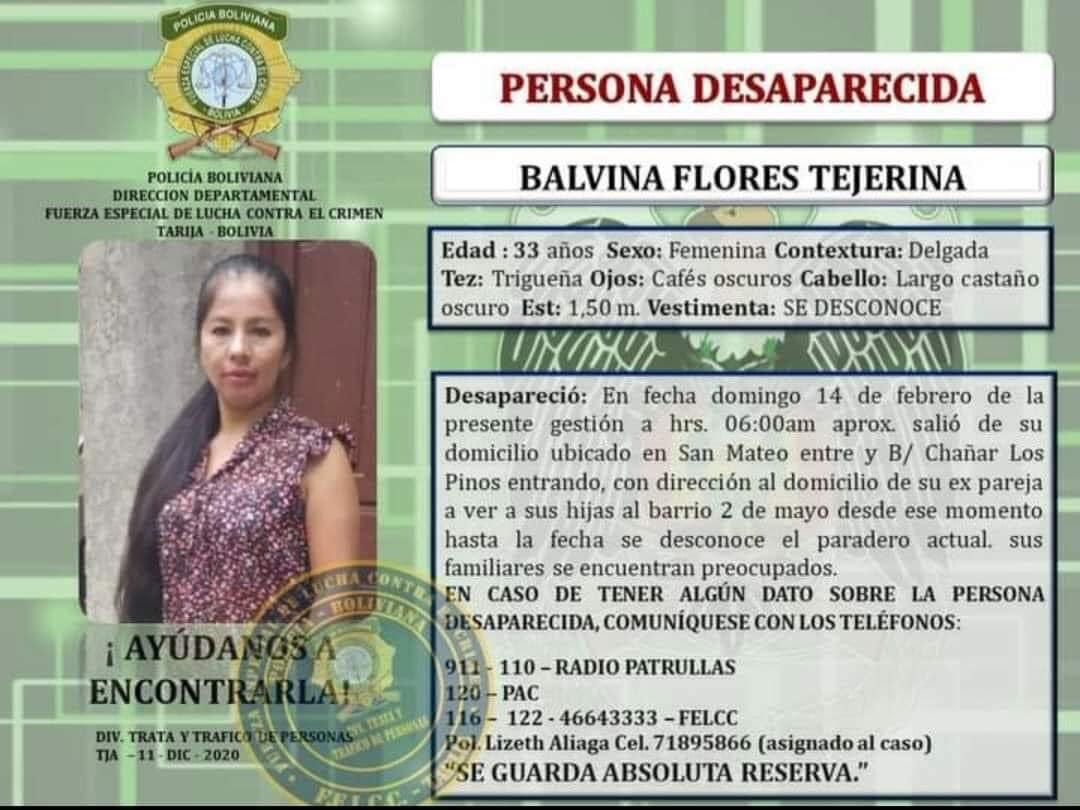 Denuncian que instituciones pudieron evitar el feminicidio de Balvina en Tarija
