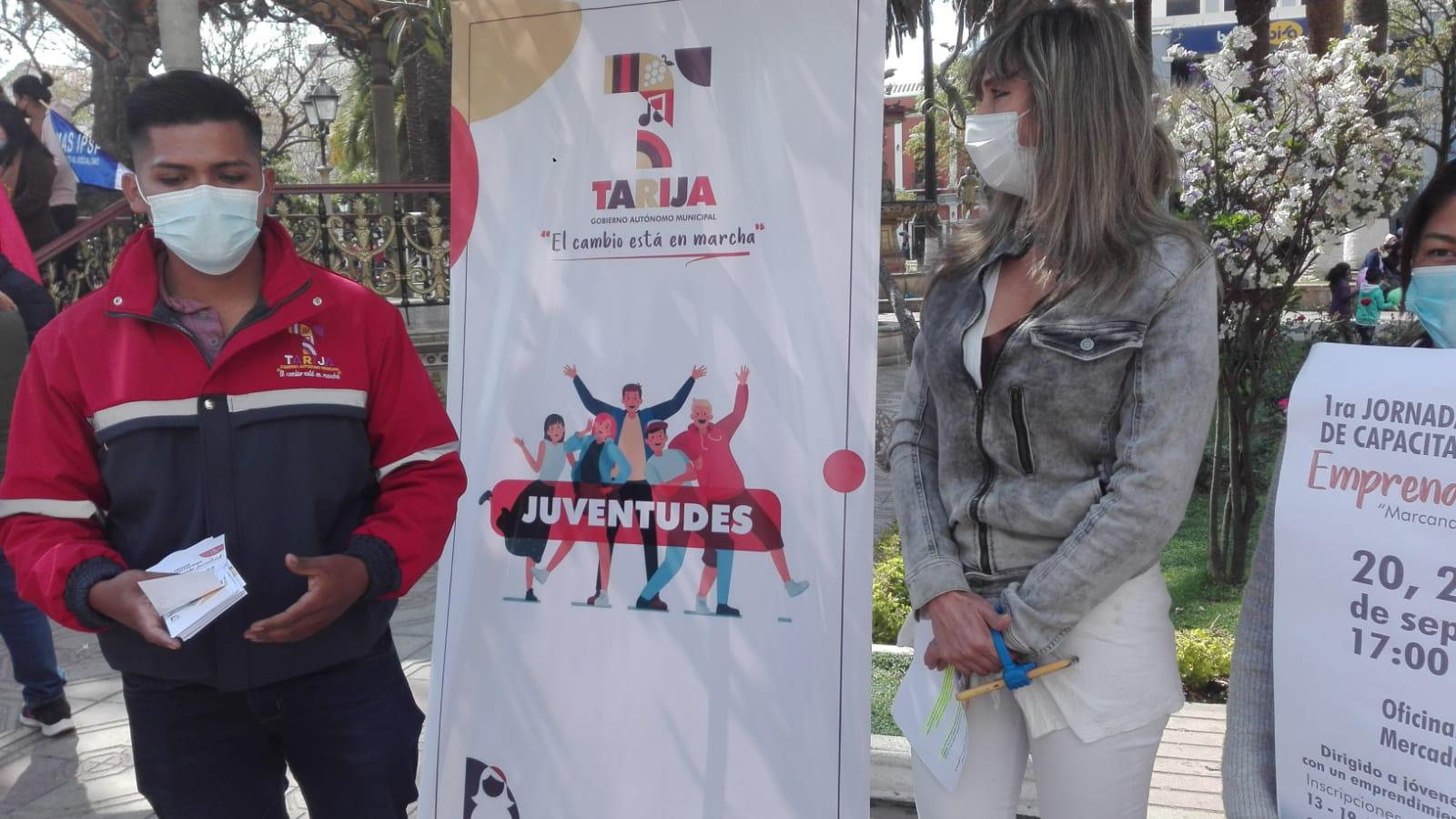 Alcaldía de Tarija invita a los jóvenes a participar de una feria de emprendedores