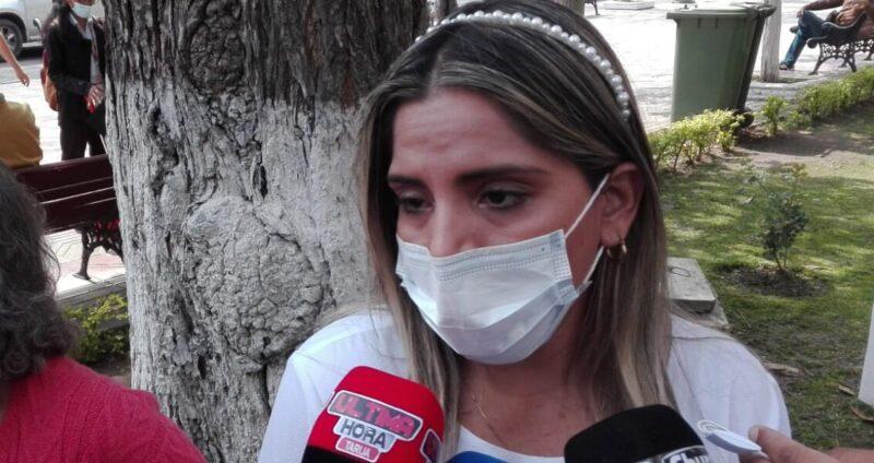 Carolina Ribera pide en Tarija ayuda para que se defiendan los derechos de Jeanine Áñez