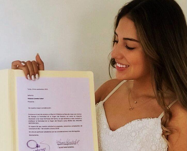 Victoria Canedo es la nueva reina del barrio El Molino de Tarija